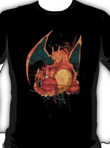 Pokemon - Charizard Splatter T-Shirt