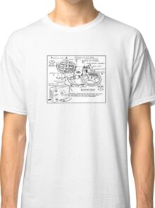 Retro Portable Tape Recorder (from the Vintage Magazine series) Classic T-Shirt
