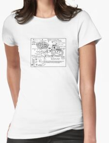 Retro Portable Tape Recorder (from the Vintage Magazine series) Womens Fitted T-Shirt