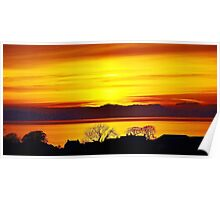 Solway sunset Crosby near Maryport Poster
