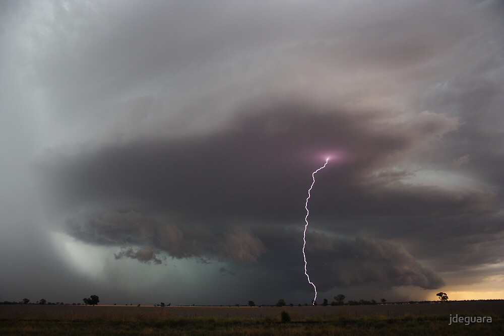 Piercing lightning strobes ahead of storm northern NSW by jdeguara
