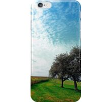 Cornfields, trees and lots of clouds | landscape photography iPhone Case/Skin
