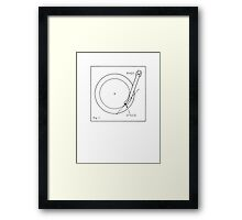 Retro Record Player Schematic (from the Vintage Magazine series) Framed Print