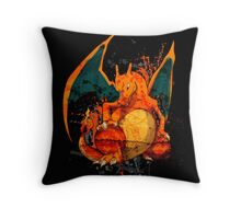 Pokemon - Charizard Splatter Throw Pillow