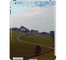 Scenery with clouds, a hill and nothing particular | landscape photography iPad Case/Skin