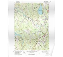 Maine USGS Historical Map Minot 102756 1981 24000 Poster
