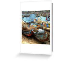 Nap at Tema Harbor Greeting Card