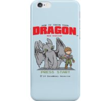 HOW TO TRAIN YOUR DRAGON 8BIT VERSION iPhone Case/Skin