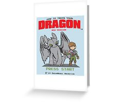 HOW TO TRAIN YOUR DRAGON 8BIT VERSION Greeting Card