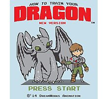 HOW TO TRAIN YOUR DRAGON 8BIT VERSION Photographic Print