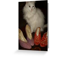 Monet Loves Shoes Greeting Card