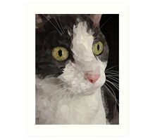 Cat PolyPortrait Art Print