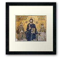 Empress Zoe mosaics inside Hagia Sophia, Istanbul (Constantinople) Framed Print