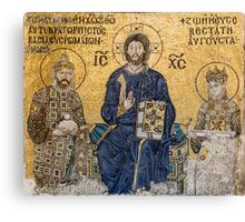 Empress Zoe mosaics inside Hagia Sophia, Istanbul (Constantinople) Canvas Print