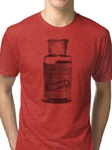 Bayer Heroin Bottle Tri-blend T-Shirt