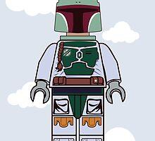 Boba Fett Brick Boy by Reece Caldwell