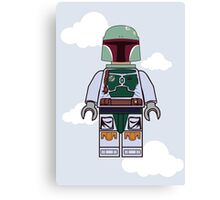 Boba Fett Brick Boy Canvas Print