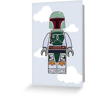 Boba Fett Brick Boy Greeting Card