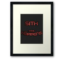 Star Wars Sith Framed Print