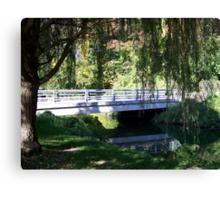 Willow Tree Bridge Canvas Print