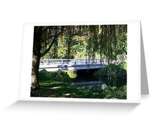 Willow Tree Bridge Greeting Card