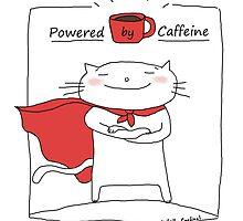 Powered by caffeine / Cat doodle by eyecreate