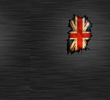 Union jack wall crack ipad case by ALIANATOR