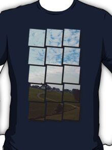 Scenery with clouds, a hill and nothing particular | landscape photography T-Shirt