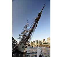 "Tall Ship ""Europa"" & Sydney Skyline, Australia 2013 Photographic Print"