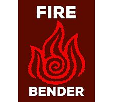 Fire Bender and Proud Photographic Print