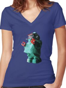 Doctorbot Women's Fitted V-Neck T-Shirt