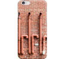 Red Pipes on Red Brick iPhone Case/Skin