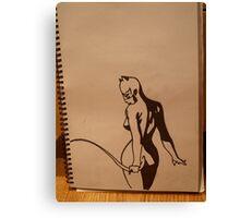 Catwoman! Canvas Print