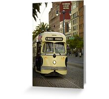 Trolley Stop Greeting Card