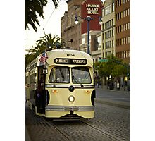 Trolley Stop Photographic Print