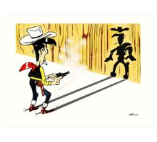 Lucky Luke - TAKE 2 Art Print