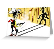 Lucky Luke - TAKE 2 Greeting Card