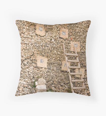 Holding wall Throw Pillow
