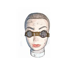head with goggles  Photographic Print
