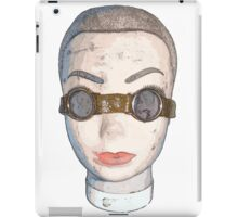 head with goggles  iPad Case/Skin