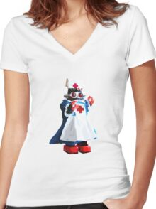 Nursebot Women's Fitted V-Neck T-Shirt