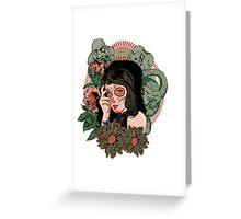 Dead Girl Greeting Card
