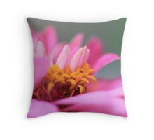 the softness of pink Throw Pillow