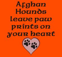 Afghan Hounds Leave Paw Prints On Your Heart Kids Clothes