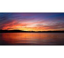 Sunset on Lake Lanier Photographic Print