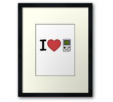 I Heart Games Pixel Art Framed Print