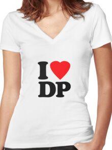 I Heart DP Women's Fitted V-Neck T-Shirt