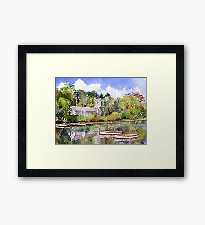 St Just in Roseland Church Framed Print