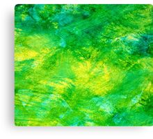 Abstract Spring Colors bright yellow, vivid green, & light blue Canvas Print