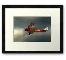 DH82a - DE HAVILLAND TIGER MOTH / G-ACDC (DELTA CHARLIE)  Framed Print